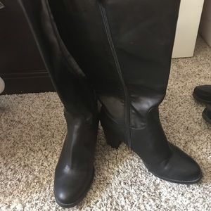 New Jaclyn Smith Wide Calf Knee High Boot 10W